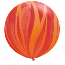 Giant SuperAgate Balloons - Red & Orange (30 Inch) 2pcs